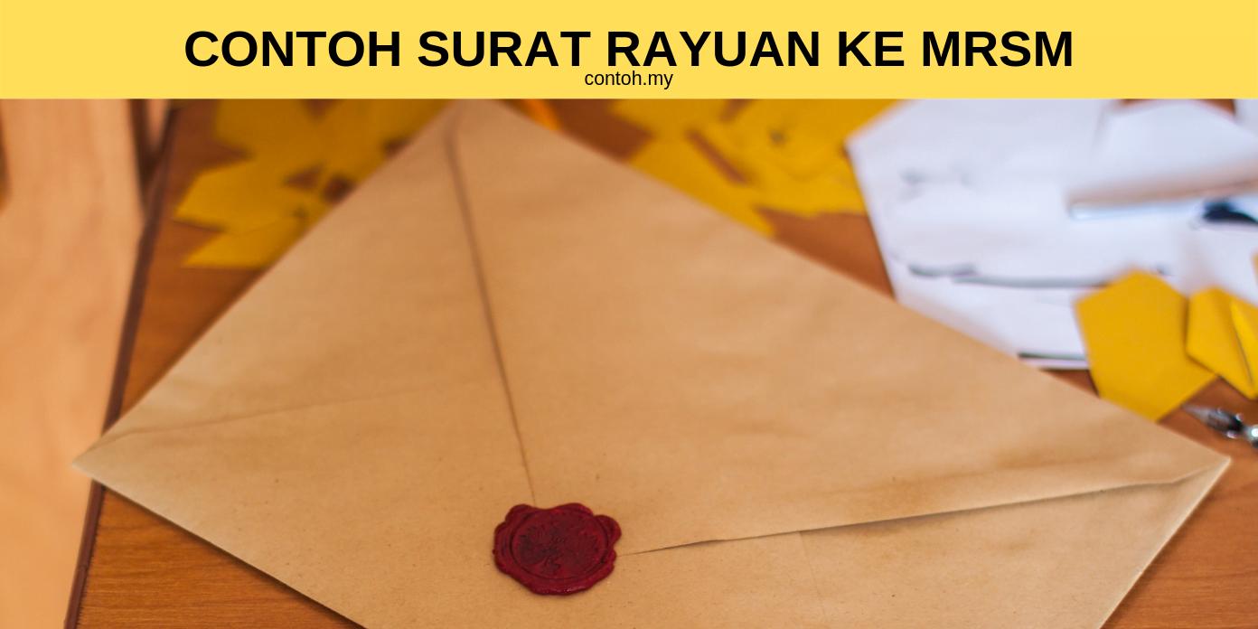 Contoh Surat Rayuan Ke MRSM 1